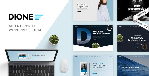 Dione - Business Agency Enterprise WordPress Theme - Portfolio Creative