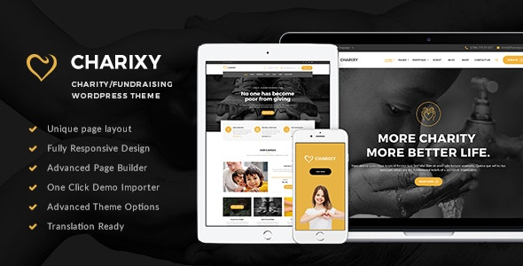 Charixy - Charity/Fundraising WordPress Theme - Charity Nonprofit