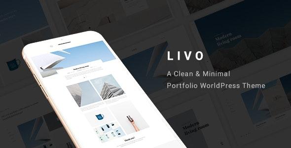 Livo - A Clean & Minimal Portfolio WordPress Theme - Portfolio Creative