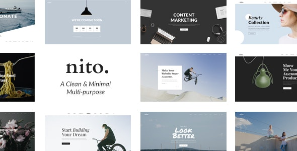 Nito - A Clean & Minimal Multi-purpose WordPress Theme - Creative WordPress