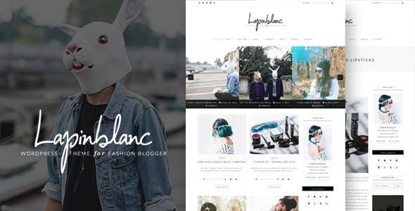Lapin Blanc - Fashion Blog WordPress Theme