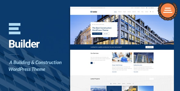 Builder - Building & Construction WordPress Theme - Business Corporate