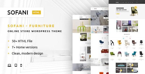Sofani - Furniture Store HTML Template - Retail Site Templates