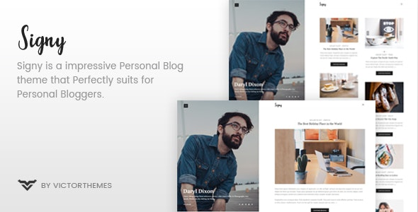 Signy - A Personal Blog WordPress Theme - Personal Blog / Magazine