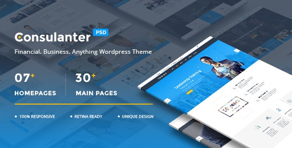 Consulanter - Business & Consulting PSD Templates - Business Corporate