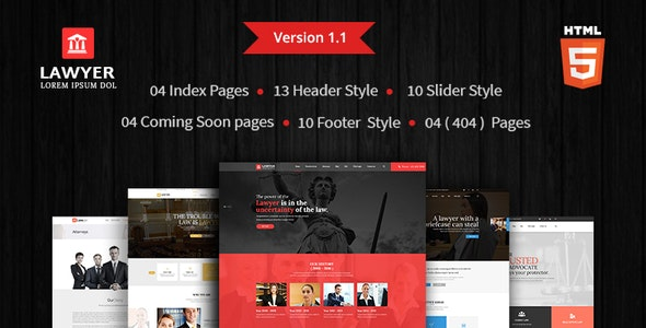 Lawyer - HTML Template - Corporate Site Templates