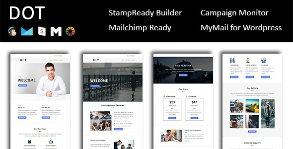 Dot - Email Template Multipurpose Responsive with Stampready Builder Access - Email Templates Marketing