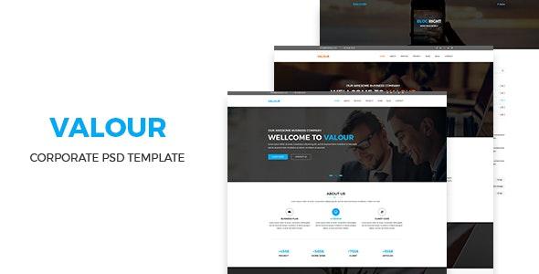 Valour - Corporate PSD Template - Marketing Corporate