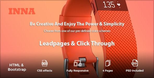INNA - Marketing HTML Landing Page - Landing Pages Marketing