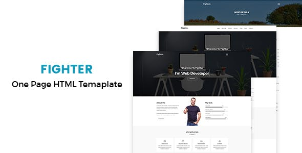 Fighter - One Page Personal HTML5  Template