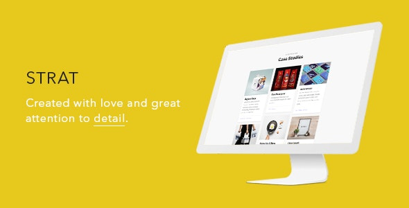 Strat — Creative One Page SEO & Marketing Agency HTML5/CSS3 Template - Marketing Corporate