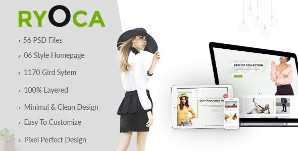 Ryoca - Multipurpose PSD Template - Retail Photoshop