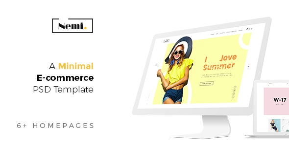 Nemi - Fashion Ecommerce PSD Template - Fashion Retail