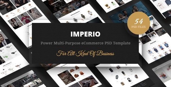 Imperio - Power Multi-Purpose eCommerce PSD Template - Retail Photoshop
