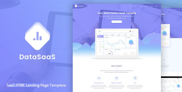 Datasaas Apps Landing template - Creative Site Templates