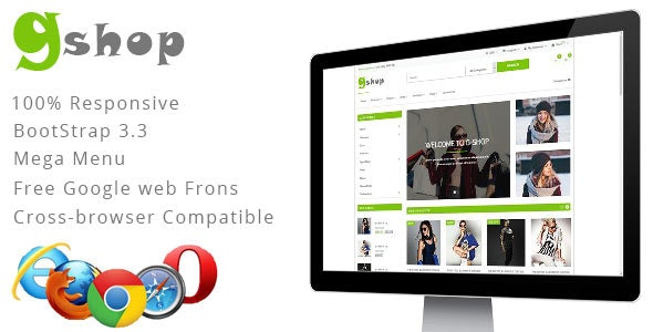 GiftShop Bootstrap HTML5 eCommerce Template - Fashion Retail