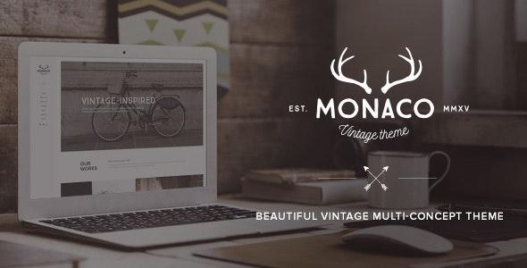 Monaco – Vintage Multi-Concept WordPress Theme - Creative WordPress