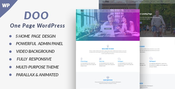 Doo - One Page WordPress - Business Corporate