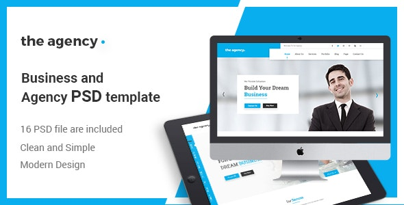 The Agency - PSD Template for Corporate Agency - Business Corporate