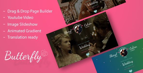 Butterfly - A Wedding WordPress Theme - Wedding WordPress