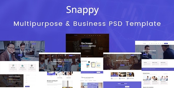 Snappy - Multipurpose & Business PSD Template - Business Corporate