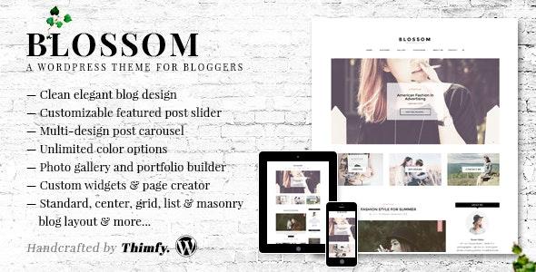 Blossom - A Responsive WordPress Blog Theme - Personal Blog / Magazine