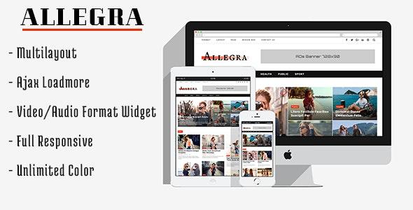 Allegra - A Multilayout Blog & Magazine Theme - Blog / Magazine WordPress