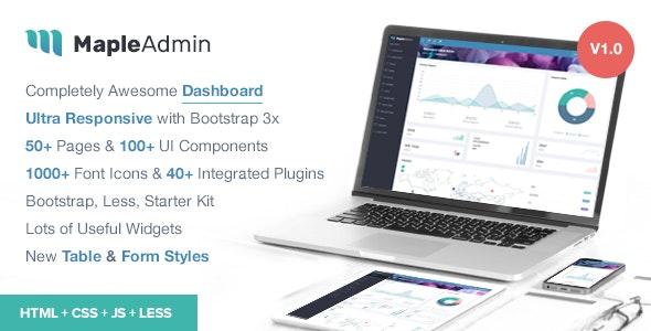 Maple Admin - Responsive Bootstrap Admin Template - Admin Templates Site Templates