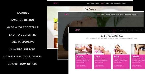 MILI-Beauty Saloon And Spa HTML5 Template - Health & Beauty Retail