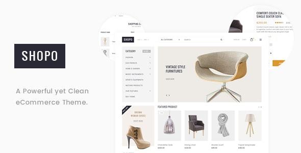 Shopo - Simple & Clean Responsive Shopify Template - Fashion Shopify