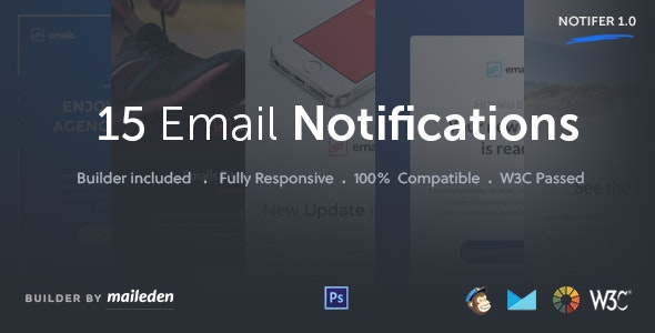 Notifer - Transactional Email Notifications + Builder - Email Templates Marketing