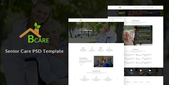 Bcare - Senior Care PSD Template - Health & Beauty Retail