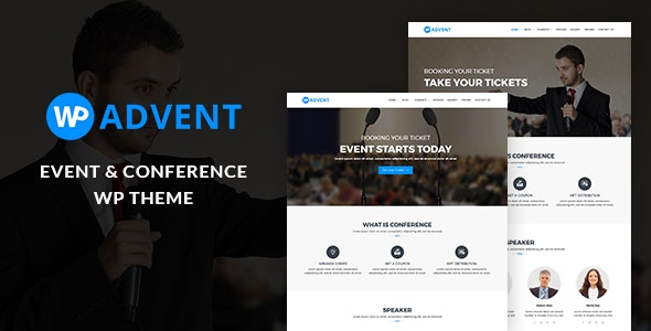 WPadvent - Event and Conference WordPress Theme - Events Entertainment