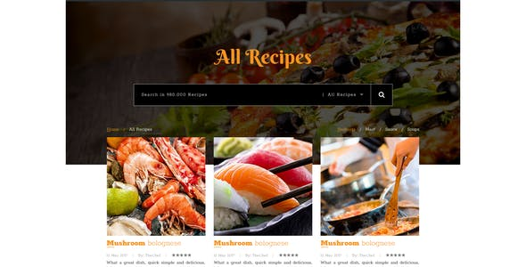 Cook At Home PSD Template