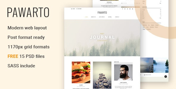 Pawarto | Personal Clean Blog HTML Template - Personal Site Templates