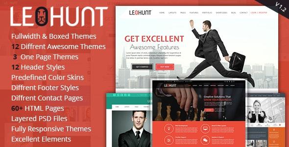 LeoHunt - Responsive Multi-Purpose HTML5 Template - Corporate Site Templates