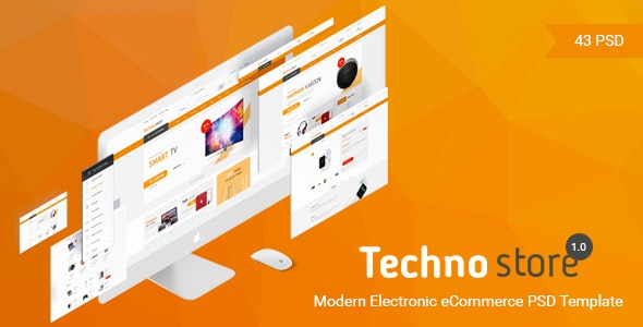 Techno Store - Electronic eCommerce PSD - Retail Photoshop