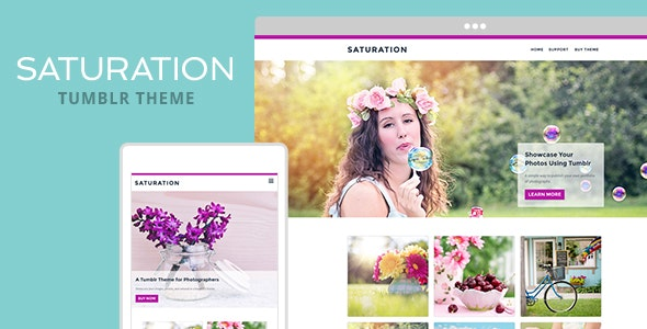 Saturation Tumblr Theme - Portfolio Tumblr