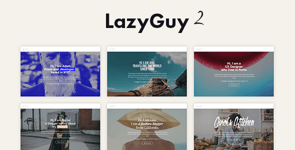 LazyGuy 2 - Personal Landing Page Template for Everyone - Personal Landing Pages