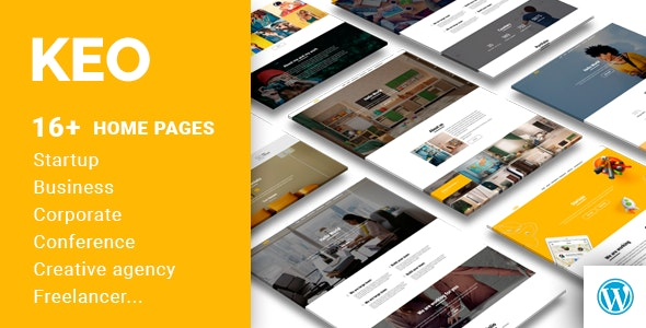 KEO - 16 in 1 Complex Multipurpose WordPress Theme - Business Corporate