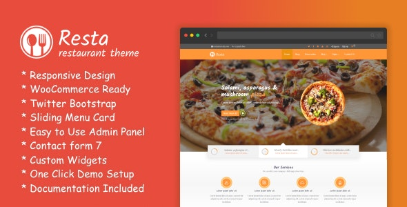 RestaWP - Premium Restaurant Theme - Restaurants & Cafes Entertainment