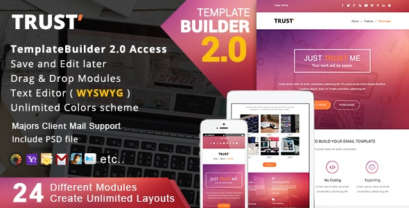 Trust - Responsive Email + MailBuild Online - Newsletters Email Templates