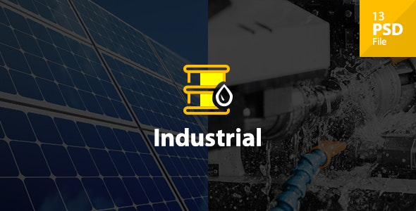 Industrial - Industry & Shipping Business PSD Template - Business Corporate