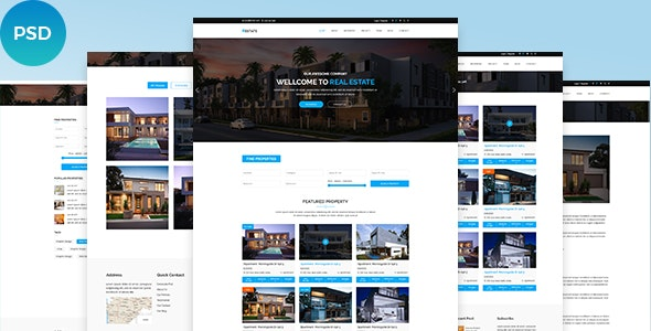 Real Estate PSD Template - Marketing Corporate