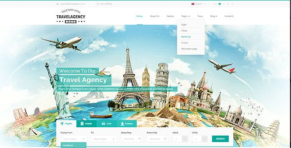 Travel Website Design Templates Templates From Themeforest
