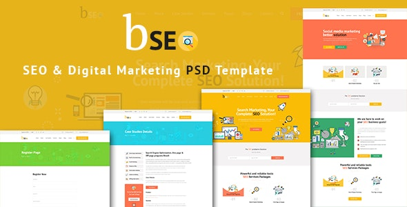 bSEO - SEO & Digital Marketing PSD Template - Business Corporate