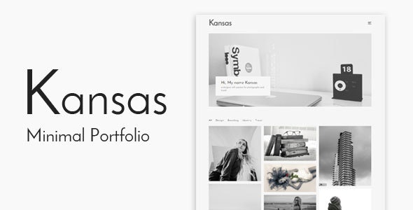 Kansas - Minimal Portfolio WordPress Template by kendythemes