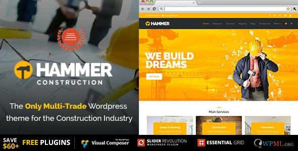 Hammer - Multi-Trade, Construction Business WordPress Theme