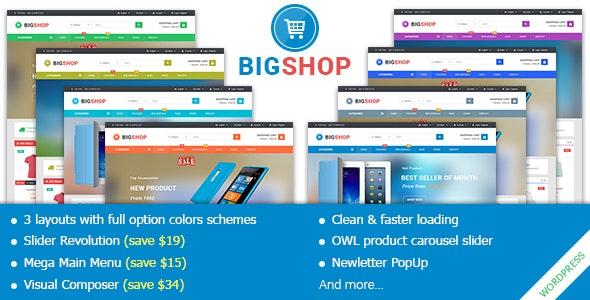 BigShop - Responsive Multi-Purpose Woocommerce WordPress Theme - WooCommerce eCommerce
