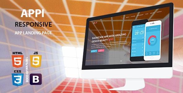 Appi Responsive App Landing Page - Technology Site Templates